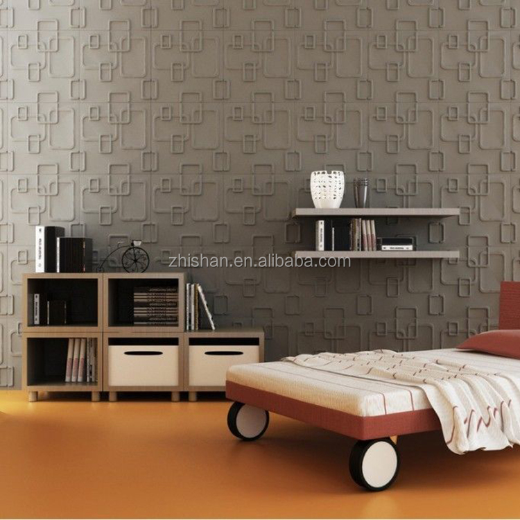 Vinyl PVC wall decor panels paintable 3d wall covering panel for wall or ceiling