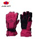 2018 new ,Red customized ski glove, PU leather warm glove, Unisex wear-resistant ski glove