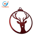 Reindeer head iron art christmas tree metal wrought iron wall hanging decoration