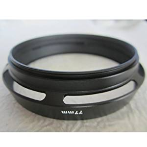 77mm Metal Vented Hollow Filter Lens Hood Screw-in for Canon Nikon Black