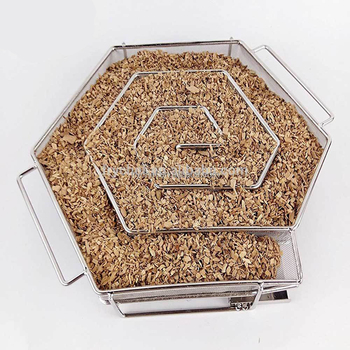 Stainless Steel Mesh Cold Smoke Generator Haxagon shape BBQ&Grill Cold Smoke Box For smoking wood sawdust-In Stcok