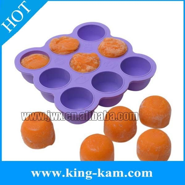 Hot Amazon Fda Foodsilicone Material Ball Shape Baby Food Freezer