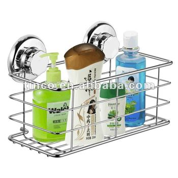 Bathroom Chrome Stainless Steel Suction Shower Caddy - Buy Shower ...