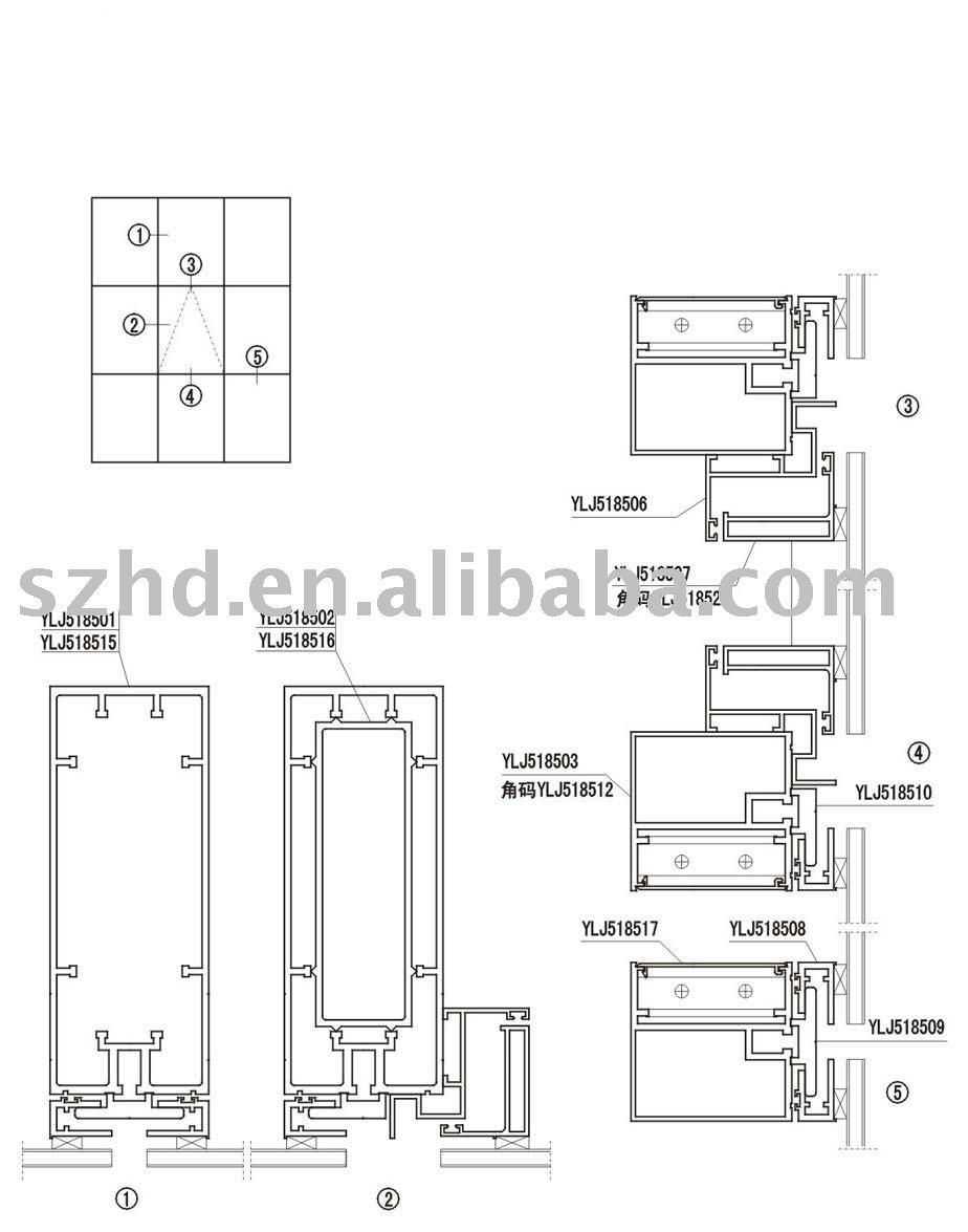 kawneer curtain wall details images. Black Bedroom Furniture Sets. Home Design Ideas