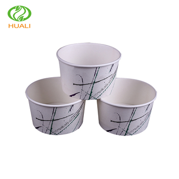 Fresh Size Of Small Disposable Paper Cup Custom Logo Printed Ice Cream  JZ92