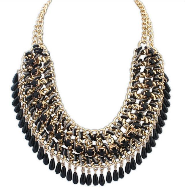 e3562bbdd women fashionable jewelry alloy statement necklace handmade wholesale