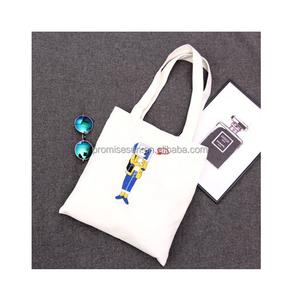 Recycled foldable canvas tote shopping bag robot pattern fashion bag ladies handbag 2017