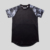 camouflage raglan sleeve stretchable t shirt