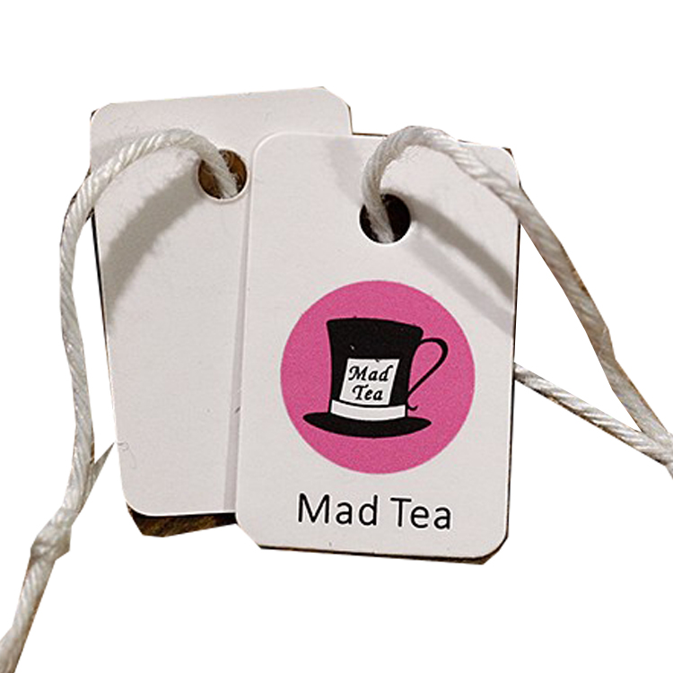 Custom CMYK printed organic tea food wine product private label tag
