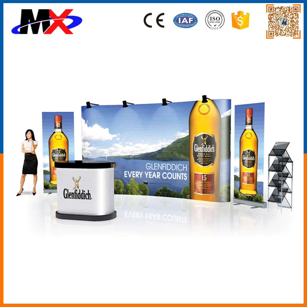 2016 New design trade show straight display with lighting china manufacture with sample