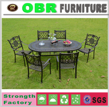 modern style aluminum frame outdoor table chairs garden furniture
