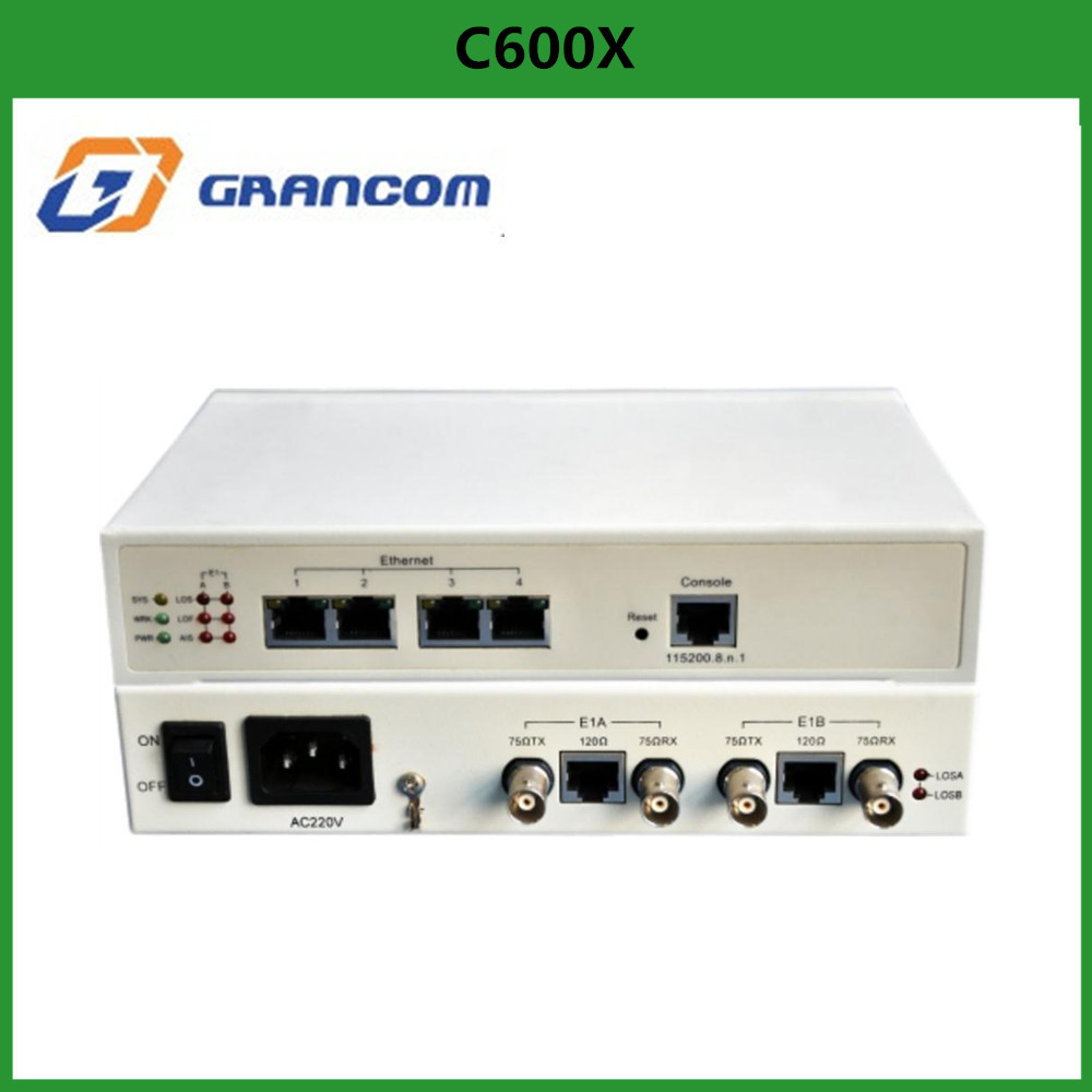 Grancom C600x 4 port 100M Ethernet/E1 packet-switched network Protocol covertor