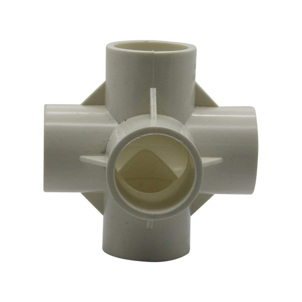 uxcell Quick Coupler Couplings 8mm Hose Barb 20PH Silver Tone Pipe Fitting