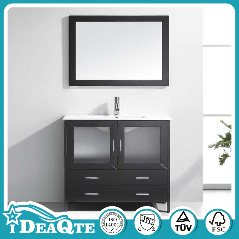 Stable performance oak white bathroom vanity storage cabinet