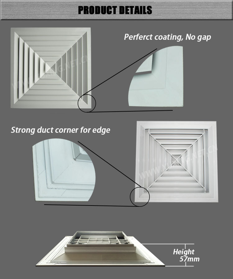 Attractive HVAC Air Conditioning Supply Various Sizes Ceiling Air Diffuser