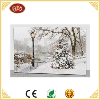 stretch landscape home decoration merry christmas frame