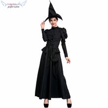 Halloween party dress cloak witch performance stage game costume