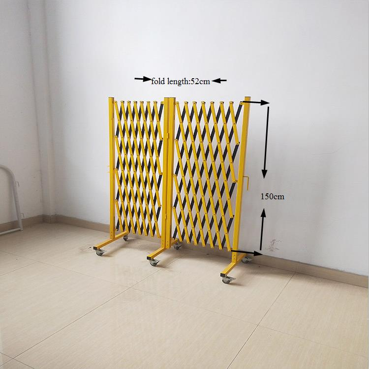 China PAI WO  Wholesale  Expandable Metal Warehouse Safety Fence Portable Parking Outdoor Metal  Fence