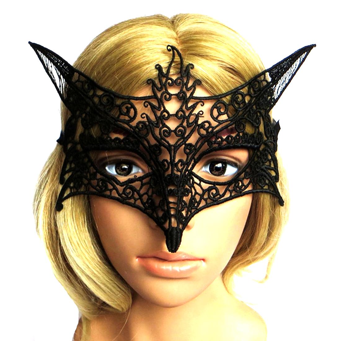 Wholesale New Black White Sexy Lady Lace Masks Cutout Eye For