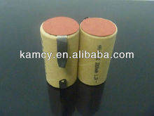 sc 1.2v rechargeable battery nimh sub c 3000mah high discharge rate with solder tabs