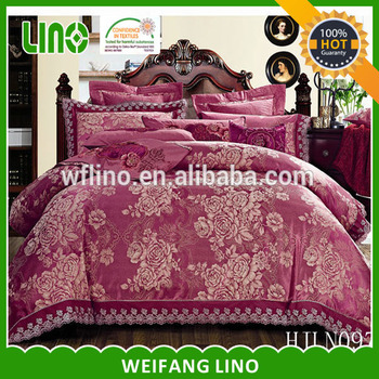 Snow White Color Jacquard Egyptian Cotton Bedding/bed Linen/bulk Bed Sheets  Made In
