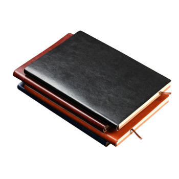 2019 Promotion A5 Black PU Men Business Corporate Hardcover Lined Custom Leather Notebook