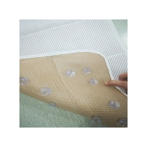 anti slip 3D mesh bath cushion with suction cups