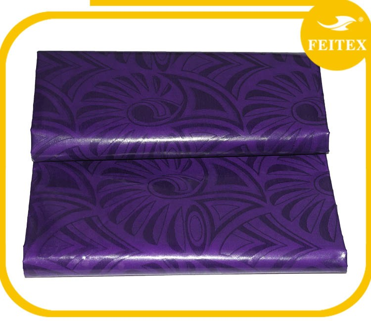 China Suppliers Fashion Color Guinea Brocade Cotton Fabric Bazin Riche African Clothes Damask For Wedding Party FEITEX