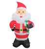 Santa Claus Inflatable with candy cane Christmas decorating inflatable toy home decor