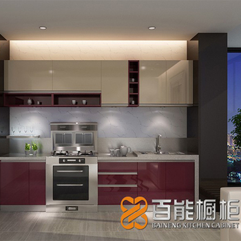 High gloss two color kitchen cabinet door for MDF cabinet kitchen with build-in cabinet & High Gloss Two Color Kitchen Cabinet Door For Mdf Cabinet Kitchen ...