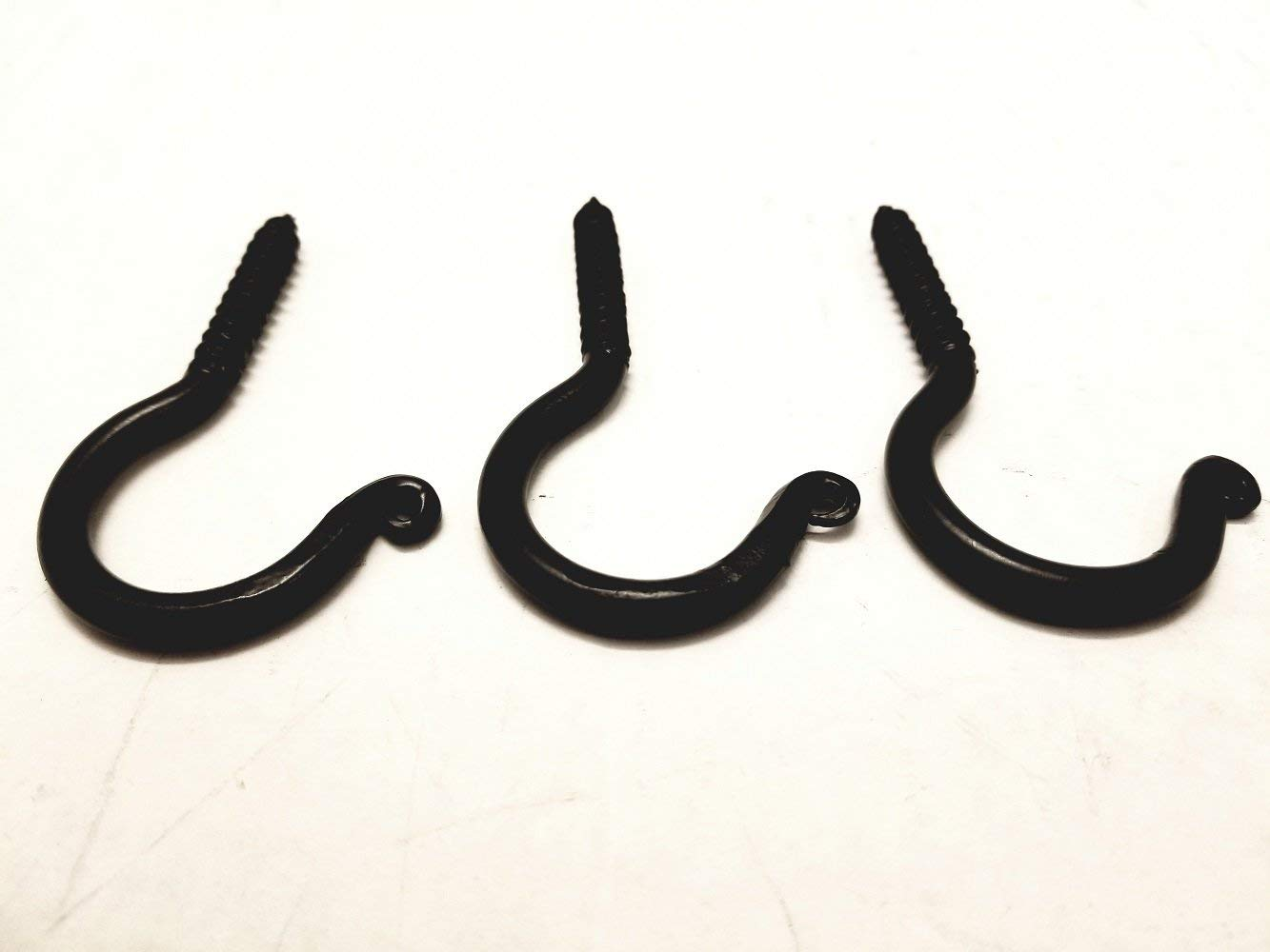 "3 Pack Wrought Iron Ceiling Hook Screw Country Primitive Décor - Each Hook is 3"" Long"