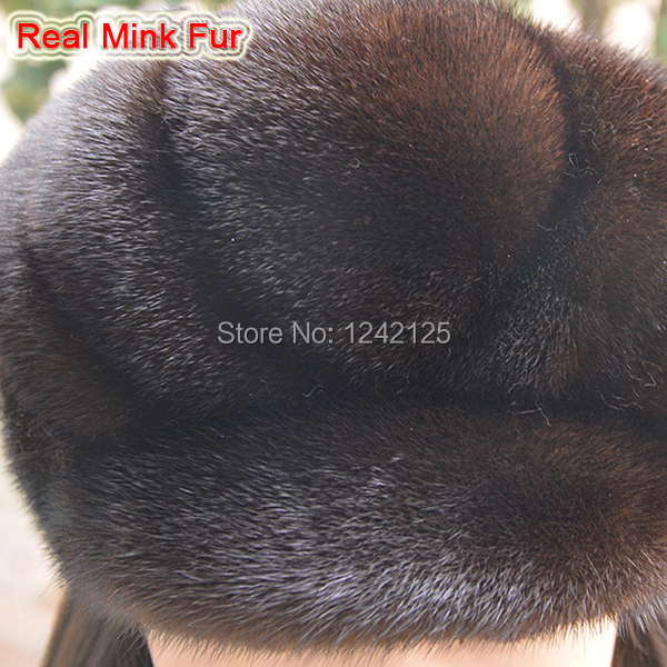 70795d7053a New Autumn winter parent-child mink fur hat windproof warm cute ...