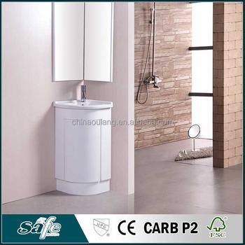 Floor Mount Corner Bathroom Cabinet