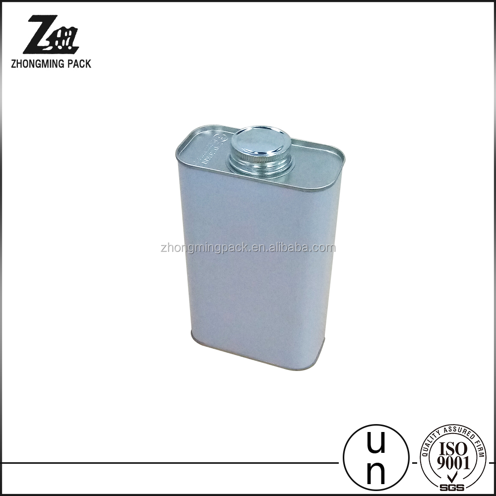 1L engine oil square tin can with screw lid manufacturer
