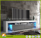 Latest high quality PB wood tv stand/ lcd light tv unit cabinet design