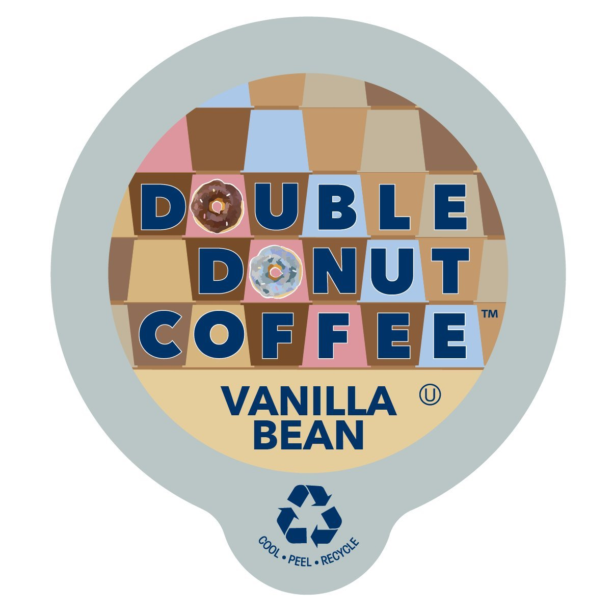 Double Donut Flavored Coffee, Recyclable Single Serve Cups for Keurig K Cup Brewer, 80 Count (Vanilla Bean)