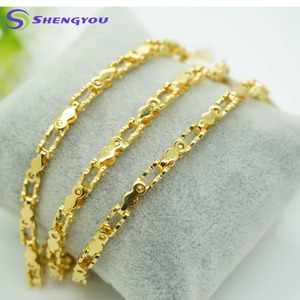 2018 New Design Stainless Steel Jewelry Set Bling Gold 8 Shaped Conneck Chain Necklace And Bracelet Wholesale
