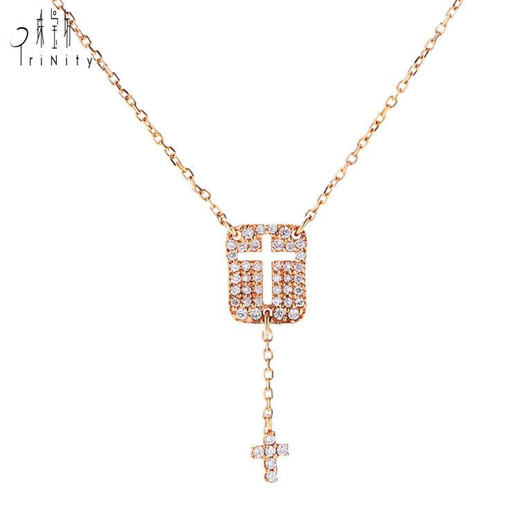 a0bca16a7d69 Catálogo de fabricantes de Oro Rosa Cruz Collar de alta calidad y Oro Rosa  Cruz Collar en Alibaba.com