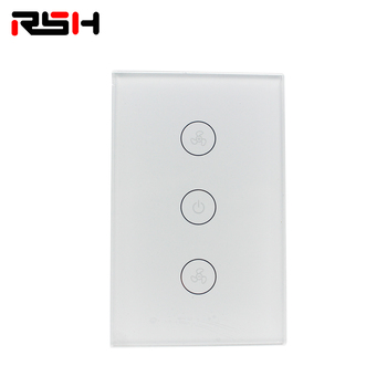 Smart Switch Panel Wifi Touch Control Muur Switch door Alexa Google Home Siri Telefoon Controle Met Blauwe Backlit op Glas panel