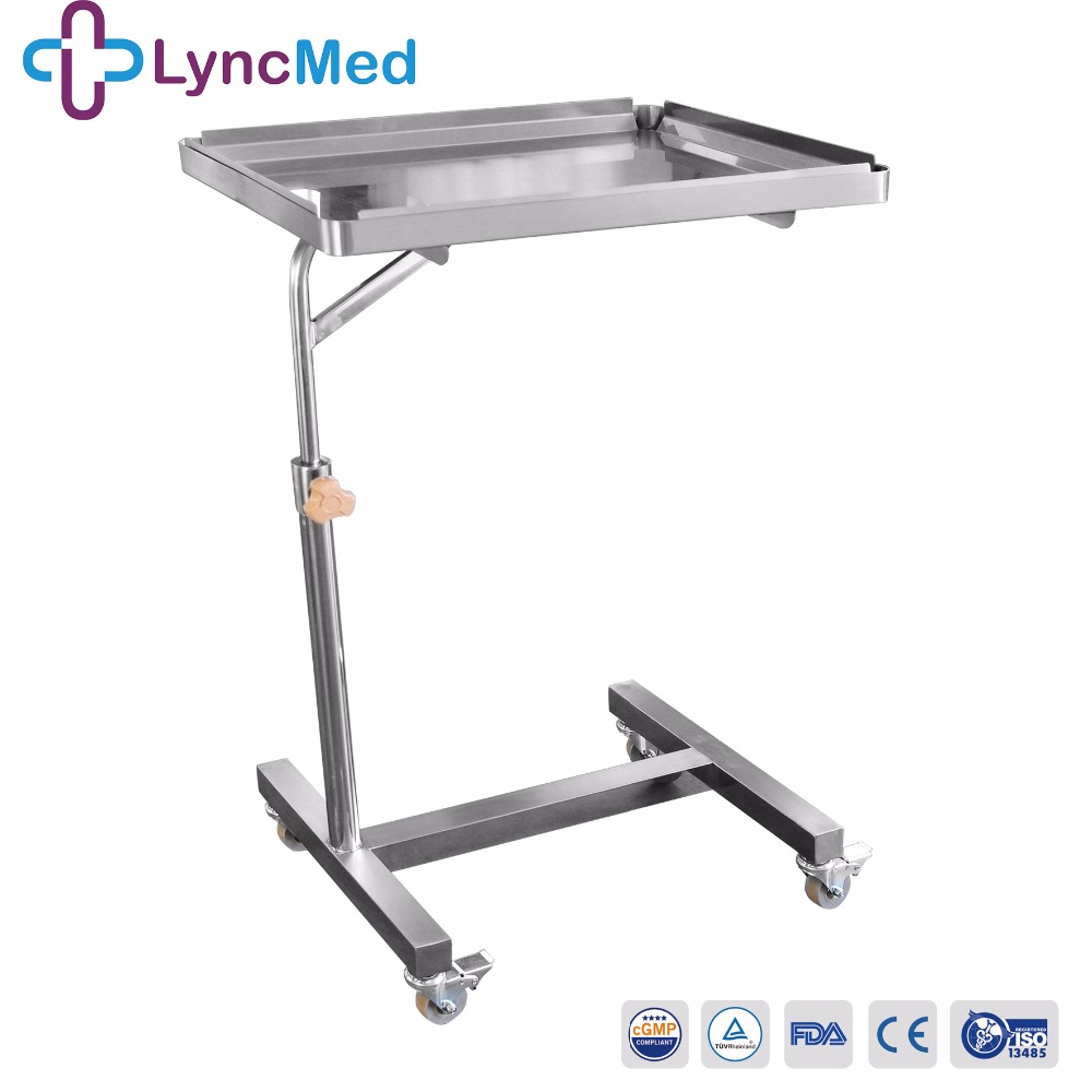 Hospital Stainless Steel Mayo Trolley Medical Tray Cart Buy