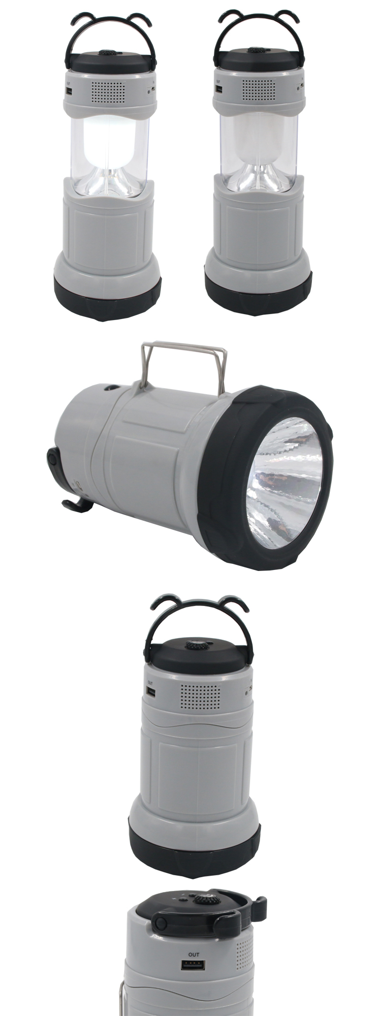Creative LED Night Light 2 In1 Camping Lantern Torch Lamp With Radio