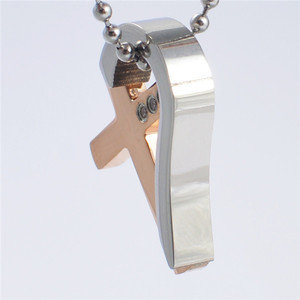 Yiwu Aceon stainless steel plated crystal cross whistle shape customized pendant