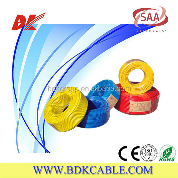 Multi strand single core cables LSZH Insulated and Sheathed electrical wire cable 300/500V