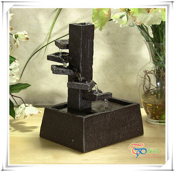 Tiered Serenity Indoor Waterfall Fountain Tabletop, View tabletop ...