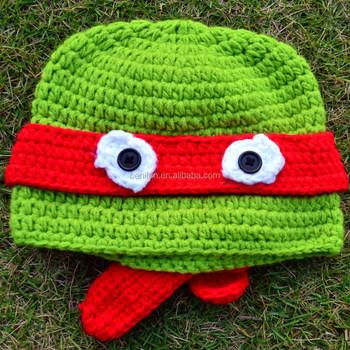 Baby Handarbeit Gehäkelt Ninja Turtle Hüte Jungen Und Mädchen Eule ...