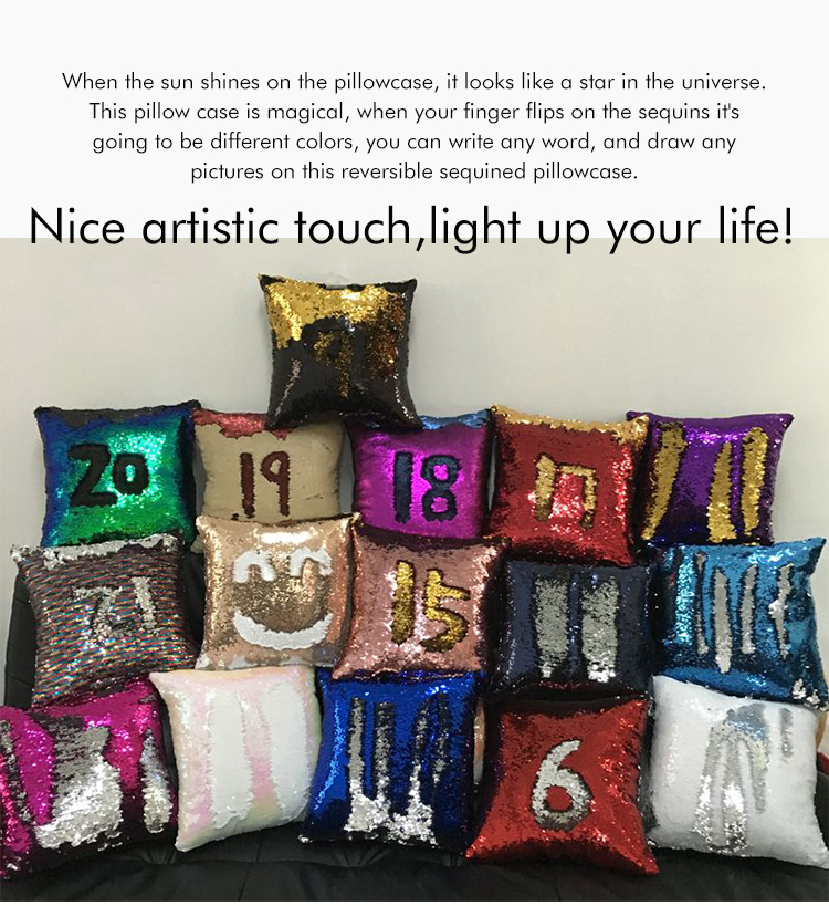 Red Reversible Mermaid Sequin Cushion Cover For Sublimation Wedding Decor -  Buy Mermaid Sequin Cushion,Reversible Sequin Cushion Cover,Cushion
