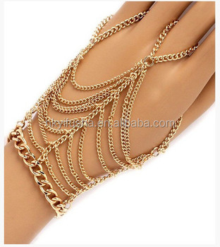 Gold Chain Slave Bracelet Sp6172