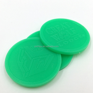 Different Size cheap Custom Embossed Plastic Token Coins