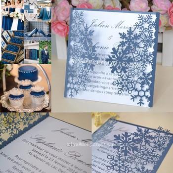 Winter Wedding Decoration And Snowflake Type Card Invitation Card Wedding  Invitations Card Box - Buy Wedding Decoration Invitations Card,Snowflake ...