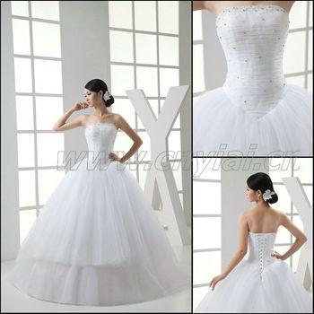 Jj3024 Beaded Big Skirt Tulle Ball Gown Wedding Dresses 2013 - Buy ...
